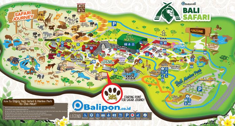Peta Bali Safari Marine Park